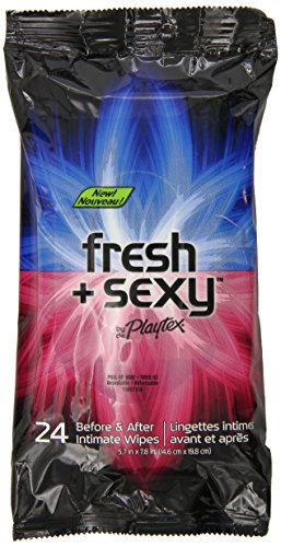 Playtex Fresh & Sexy Intimate Wipes - 24 Count Each - Pack of 2