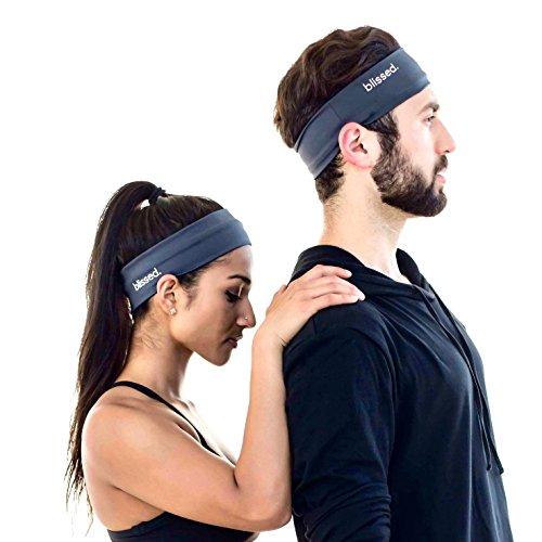 Heavyweight Spandex Tights - Sport & Yoga Headband (Dark Gray)