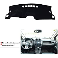FMtoppeak Dashboard Dash Dark Mat Dash Mat Sun Cover Pad For Jeep Compass 2011 - 2016