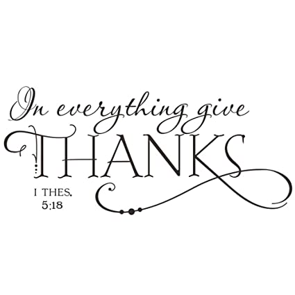 b33abddf4 BooDecal Christian Quotes Lettering Words Black Design Wall Decals for  Office Study Room Proverbs in Everything Give Thanks Wall Décor Sticker  Vinyl ...