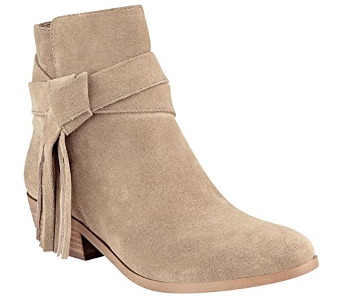 G by GUESS Womens Natural Camrin Suede Light Natural Booties Size 8.5 M btzdK5Ge1H