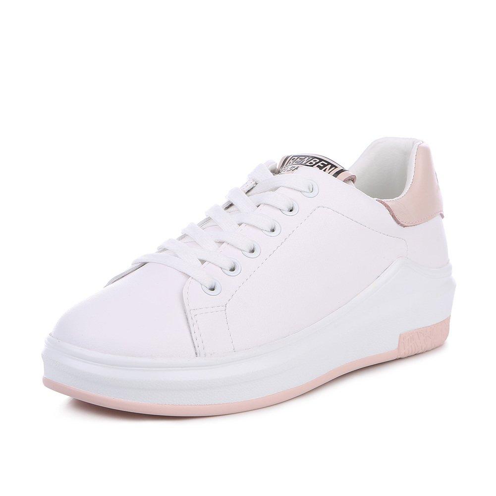 Version Coréenne dans Les Chaussures De Printemps Peu Blanc,Espadrilles De Pure Plate-Forme Littéraire,Chaussure Casual De Course Joker