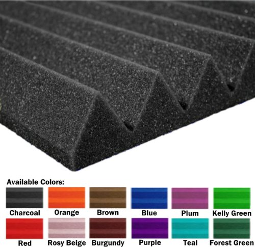 48 Pack of (12 x 12 x 2)Inch Acoustical Wedge Foam Panel for Soundproofing Studio & Home Theater (Kelly Green) by F-Factory(Acoustic Foam) (Image #3)
