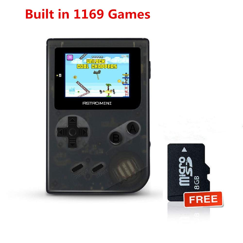 Anbernic Handheld Games Consoles , Retro TV Game Console Video Game Console Player 2.0 Inch Game Console with 1169 GBA System Classic Games for Kids Gift