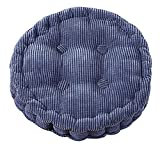 Tufted Thick Chair Pad Seat,Square Boosted Pillow Cushion,Ideal for Home,Office,School,Travel,Diameter 15'' Round Denim Blue