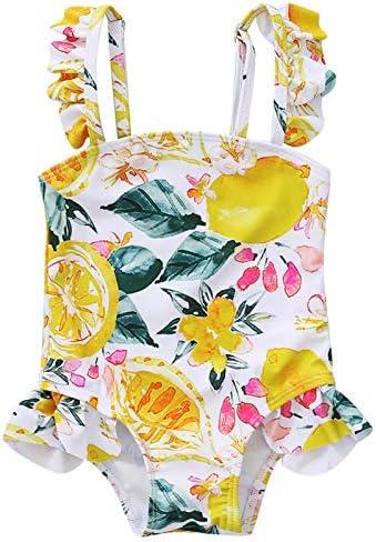 Baby Girl Bikini Daisy Beach Swimsuit Ruffled Bathing Suit Swimwear One Piece Sunsuit Onesie