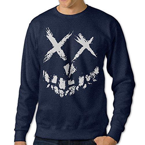 JXMD Men's Squad Smile Crewneck Hooded Sweatshirt Navy Size L - Mens Dallas Cowboy Pajama Pants