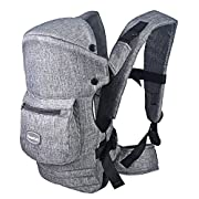 HarnnHalo Baby Carrier with 3 Carrying Options, 007, Grey