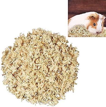 GZGZADMC virutas de madera para mascotas ropa de cama natural chips de madera suministros desodorante relleno suministros para pequeños animales hámster hábitat conejillo de indias 500g