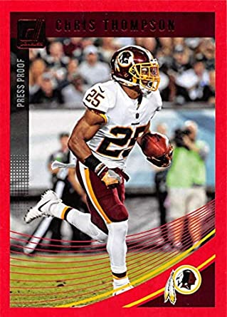 2018 Donruss Press Proof Red Football  292 Chris Thompson Washington  Redskins 0cfe56828