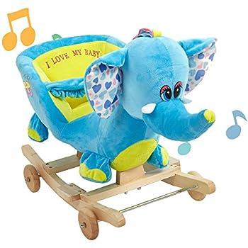 Amazon Com Lucky Tree Rocking Horse Elephant Rocker Chair