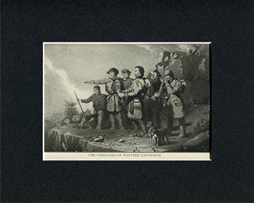 Western Engraving (Vanguard Of Western Expansion Original Engraving Original Book Photo Display)