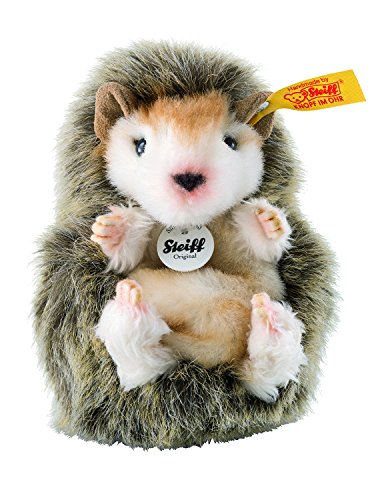 Steiff JOGGI Hedgehog Plush Animal Toy, Brown