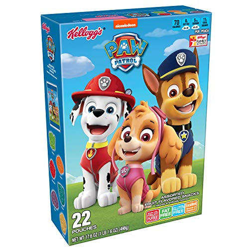 PAW Patrol, Assorted Fruit Flavored Snacks, Original, Excellent Source of Vitamin C, 17.6 Oz Box (Pack of 6)