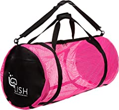 Carry your dive gear and beach accessories effortlessly with the LISH XL Mesh Diving Duffle Bag! Made of heavy duty mesh and 600D polyester, this equipment bag is a convenient, ultra-portable solution to all your gear transport needs. Measuri...