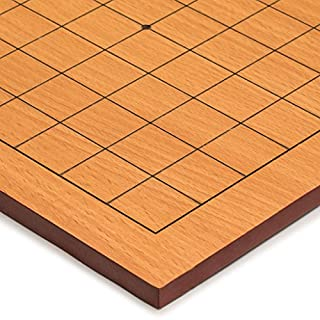 Yellow Mountain Imports Go Game Table Board (Goban) with 9x9 Playing Field, 0.4 Inch Thick Beechwood Veneer
