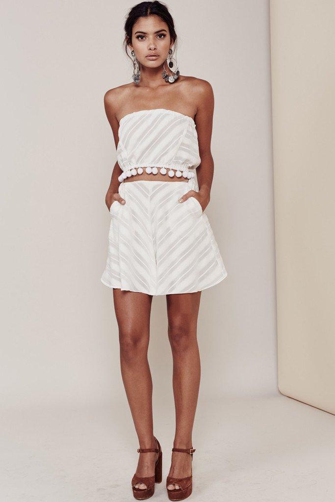 For Love & Lemons Alessandra Mini Skirt (M)