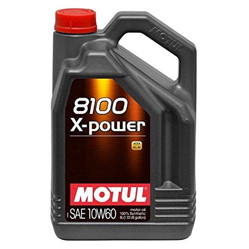 Motul 106144/74 8100 x-Power 10w60 5 Liter, 5 Large, 1 Pack by Motul
