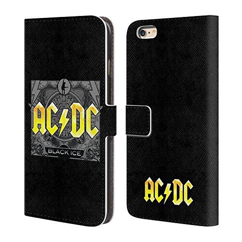 Officiel AC/DC ACDC Haute Tension Titres De Chanson Étui Coque De Livre En Cuir Pour Apple iPhone 6 Plus / 6s Plus