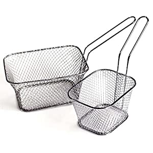 Gooday 4 PCS Mini Chip Baskets Fryer Serving Food Presentation Basket Kitchen Tool French Fries Basket