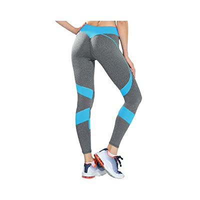 aoliaoyudonggha Fashion Women Heart Fitness Workout Slim Leggings Patchwork Polyester Sportwear Trousers: Ropa y accesorios