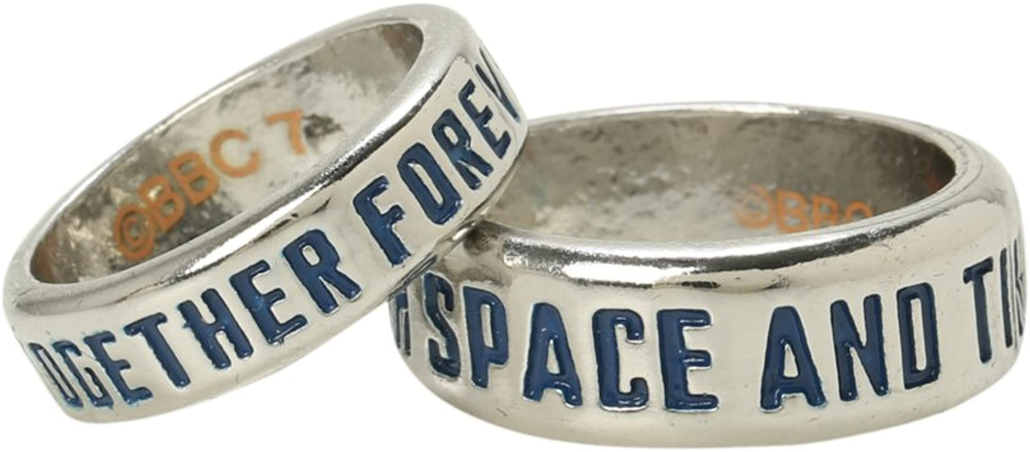 Doctor Who Together Forever and Through Space /& Time Ring Set