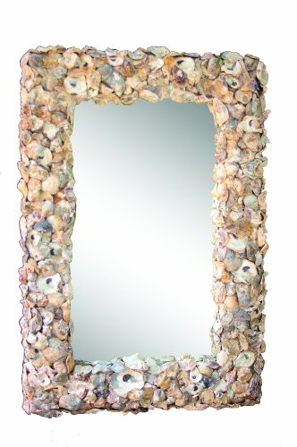 Creative Co Op Oyster Shell Mirror