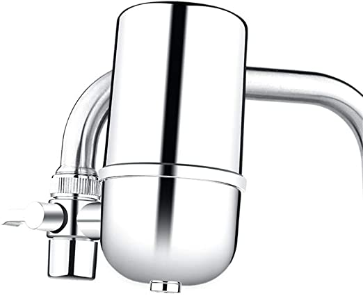 El acero inoxidable del purificador del agua del grifo reduce la ...