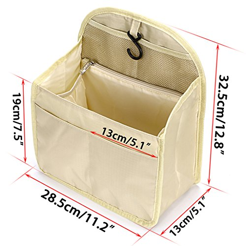 BTSKY Universal Backpack Insert Organizer Handbag Organizer Hanging Travel Bag Gadget Organization Multi-Pocket 3 Size(Large)