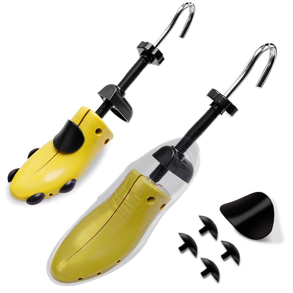 Wen Wen Home Shoe Stretcher, Pair of Professional 2-Way Tough Plastic Shoe Trees With Adjustable Length & Width, Men and Women Shoe Stretchers(Small)