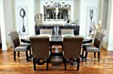 Bbo Poker The Elite 7 Piece Poker Table Set W/ Dining Top And 6 Lounge Chairs - Upholstered With Black Velveteen