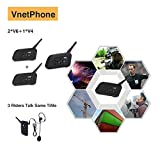 Vnetphone 1 set V4 + 2 sets V6 1200M 3 Referees Talk same time for Football Referee Coach Headset Judger Arbitration Walkie Talkie Earphone
