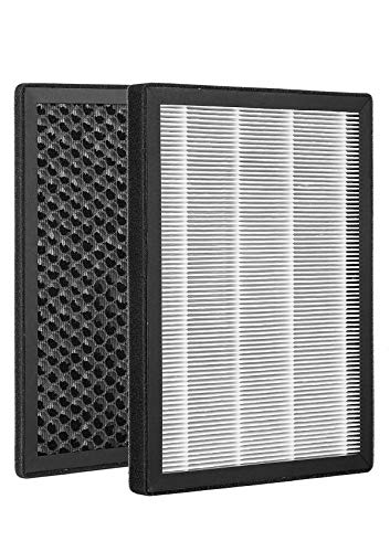 NATURALIFE Air Purifier Replacement Filters, True HEPA & Activated Carbon Filters Set