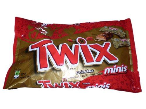 Twix Chocolate, Caramel Cookie Bars Minis Candy, 11.50-ounce Packages (Pack of 3)
