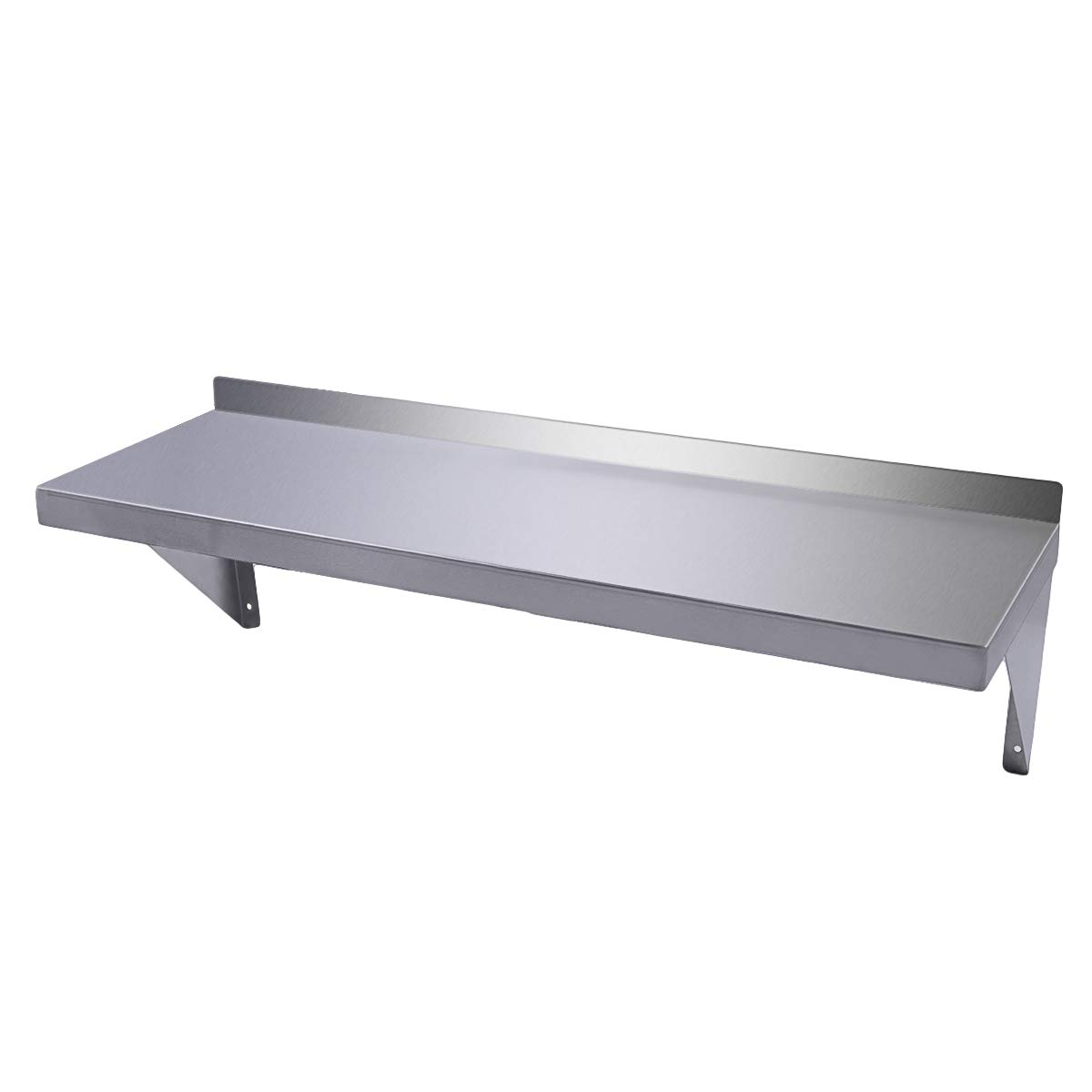 LAZYMOON Floating Wall Shelves Commercial Stainless Steel Kitchen Wall Shelf 12''x 36''