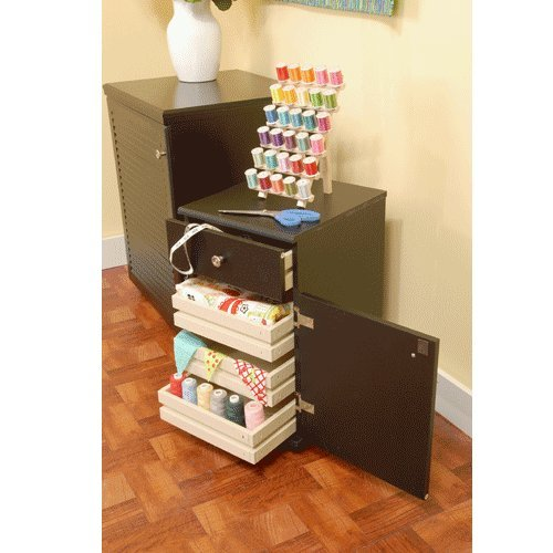 Arrow Sewing Cabinets 803 Suzi, Four Drawer Sewing Storage Cabinent, Black