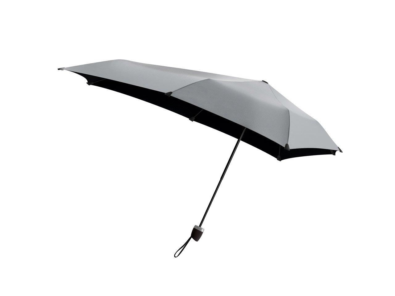 Senz Manual Umbrella, Shiny Silver