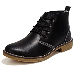 YZHYXS Women's Boots Genuine Cow Leather Fashion Motorcycle Boot Flats Casual Shoes (2821black39)