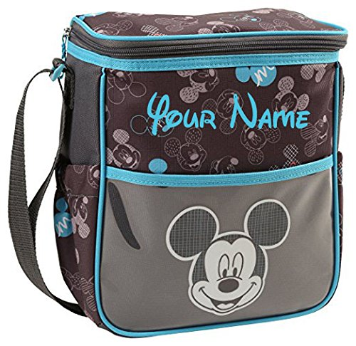 Personalized Disney Mickey Mouse Sketch Heads Print Small Baby Duffel Diaper Bag