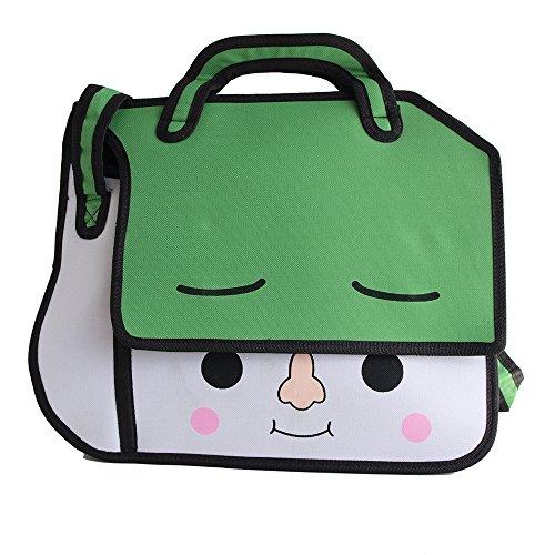Viso Cartoon Face Design 2014borsa sacchetto Japan Anime Style effetto Shopper borsa a tracolla bag 2d/3d estetica Trend