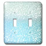 3dRose lsp_272850_2 Sparkling Teal Blue Luxury Shine Girly Elegant Mermaid Glitter Toggle Switch, Multicolor