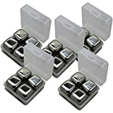 Stainless Steel Whiskey Stones Set Ice Cubes Chilling Rocks Reusable (20 Pack)