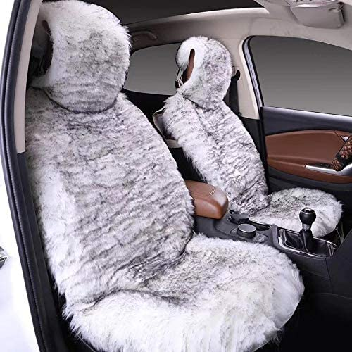 Maples 1Pack Faux Sheepskin Wool Fur Car Seat Cover