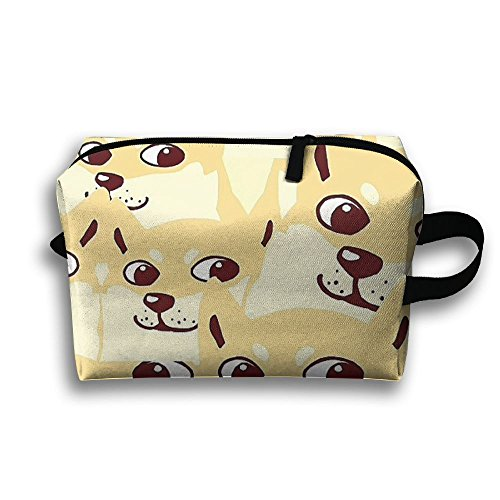 Dog Face Cosmetic Bags Makeup Organizer Bag Pouch Zipper Purse Handbag Clutch Bag]()