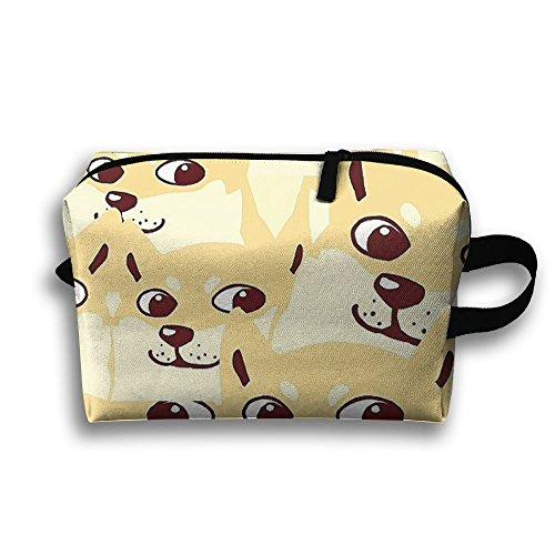 (Dog Face Cosmetic Bags Makeup Organizer Bag Pouch Zipper Purse Handbag Clutch)