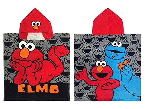 (Jay Franco Sesame Street Cotton Hooded Poncho Bath/Pool/Beach Towel)