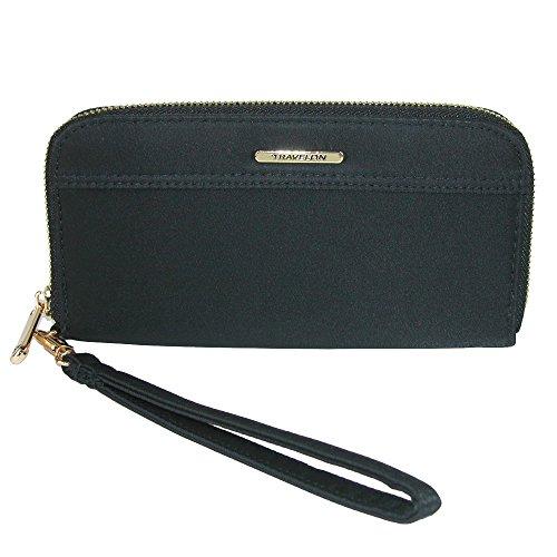 Wristlet Travelon (Travelon Women's Tailored Clutch Wallet, Onyx)