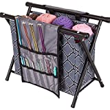 ArtBin Needle Arts Caddy Knitting and crochet storage, Gray Print 6932AG,