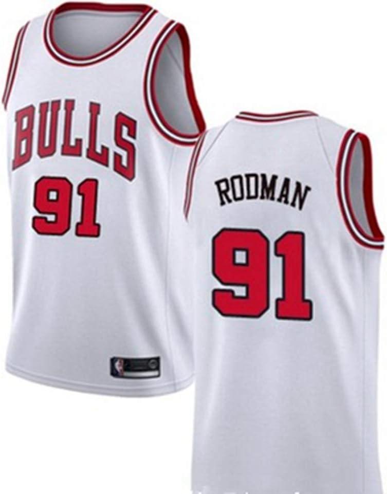 sin Mangas Hombres Camiseta de Baloncesto 91# Bulls Dennis Rodman los fan/áticos Unisex Deben Camiseta de Baloncesto