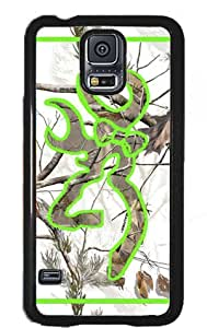 Country Girl Snow Camo and Lime Green Buck Samsung Galaxy S5 S V Snap-on Case